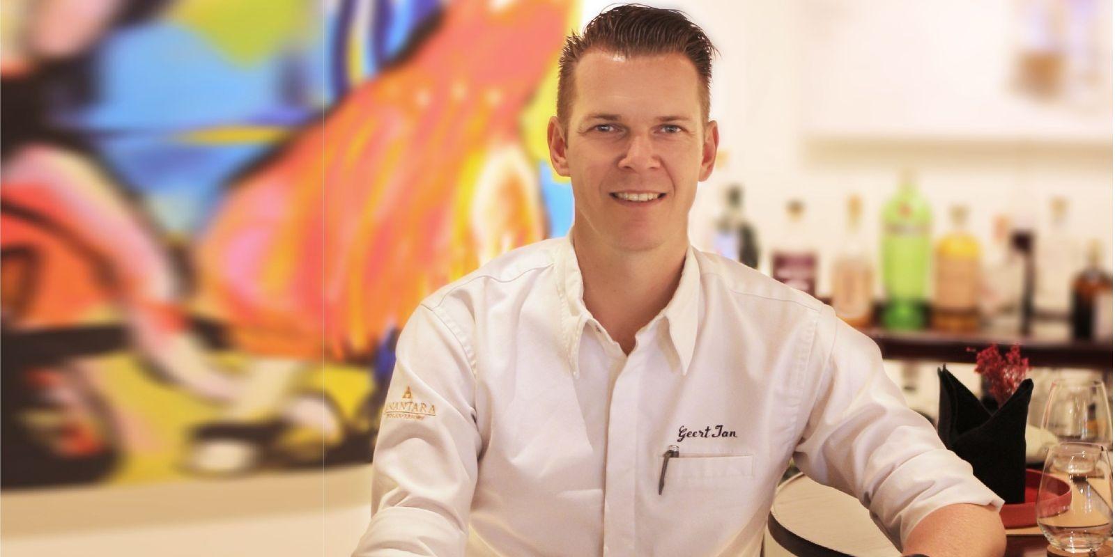 art space's chef Geert-Jan